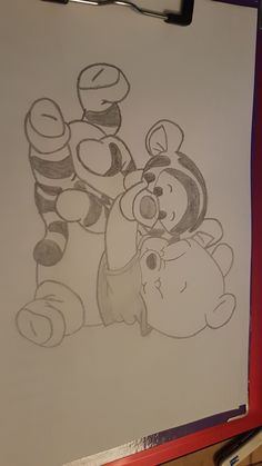 My Disney Drawing - Winnie Pooh and Tigger Guide . - My Disney drawing – Winnie Pooh and Tigger Guide …, - Pencil Art Drawings, Art Drawings Sketches, Cool Art Drawings, Cartoon Drawings, Animal Drawings, Easy Drawings, Drawing Ideas, Drawing Cartoon Characters, Amazing Drawings