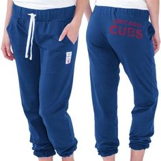 Touch by Alyssa Milano Chicago Cubs Women's Training Camp Track Pants – Royal Blue