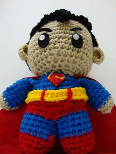 Superman Crochet Doll READY TO SHIP by Arjeloops on Etsy