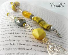 Designer Beaded Bookmark  Camilla by SassyBookBling on Etsy, $18.00