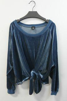 Blue velvet sweatshirt #swoonboutique