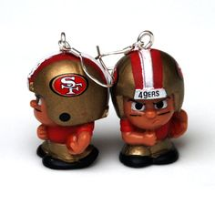 San Francisco 49ers Teenymates Earrings by BabyRoomPrints on Etsy, $20.00