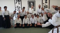 Everyone smiles with Zorie!  Aikido with Matsuoka Sensei in Irvine, Ikazuchi Dojo, 14 September 2013. Stefano Mazzilli tour in Los Angeles