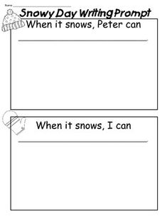 The Snowy Day Writing Prompt Freebie