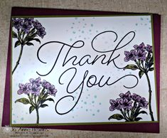 Stampin' UP! Sale a Bration FREE Thank You So Very Much stamp set. Card by Jo Anne Hewins.