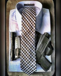 Photo from @dapperconcealedcarry Follow us and tag me @extremegentleman #extremegentleman - Shirt and tie combinations are easy ways to expand your #dapper wardrobe. Paired with a good #iwbholster and an extra mag carrier . Holster:...