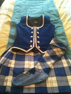 Kilt with royal blue vest #Lennox #Royal #Tartan