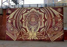 Shepard Fairey (2013)  Dumbo, Brooklyn, NY