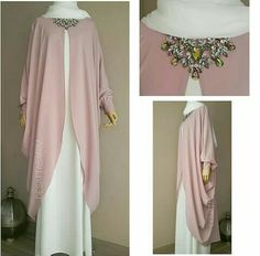 Muslim Women Fashion, Arab Fashion, Girls Fashion Clothes, Fashion Outfits, Hijabi Gowns, Moslem Fashion, Modele Hijab, Mode Abaya, Sleeves Designs For Dresses