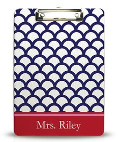 Navy & Red Scallop Personalized Clipboard #zulily #zulilyfinds