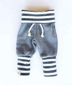 Gray Striped Skinny Sweats / Baby Boy Leggings / Baby Girl Leggings / Baby Sweatpants by SimpleSawyer on Etsy https://www.etsy.com/listing/208175880/gray-striped-skinny-sweats-baby-boy