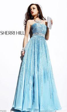 Strapless Sherri Hill Prom Dress SH-8437