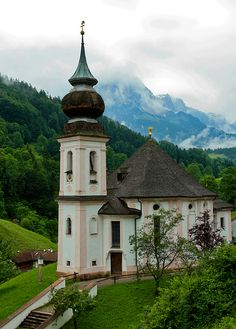 "chapel in Bavaria ""Maria Gern"" - Germany one of my favorite countries! Take Me To Church, Neuschwanstein Castle, Famous Castles, Voyage Europe, Cathedral Church, Old Churches, Church Building, Place Of Worship, Worship God"