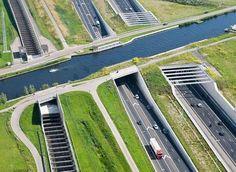 Underwater Highway - Aqueduct Ringvaart in Haarlemmermmeer, #Netherlands. -  Bridge