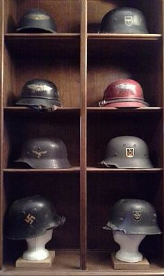 WW2 GERMAN HELMET COLLECTION...... which crutial helmet is NOT here ?.....h white 10-30-2014. ) ...................................................W-ss