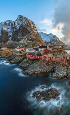 Fishing village of Reine in the Lofoten Islands.  Click through to see 20 more photos that will inspire you to travel to Norway!                                                                                                                                                      More