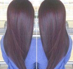 Best Hair Color Purple Black Dark Brown 43 Ideas - All For Hair Color Trending Hair Color Purple, Hair Color For Black Hair, Cool Hair Color, Color Black, Brown Hair Cuts, Brown Hair Looks, Plum Hair, Burgundy Hair, Brunette Color