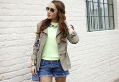 Crushing on blogger BFF @Elizabeth Lockhart Keene's weekend #OOTD featuring a Charlotte Russe jacket! See more on her blog - A Keene Sense of Style: Saturday Denim