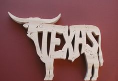 Texas Long Horn Cow Puzzle Cut On Scroll Saw by DukesScrollSaw