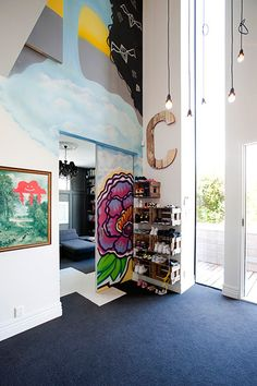 ceiling, lights, mural, sliding door!!  Larnie Nicolson - desire to inspire - desiretoinspire.net
