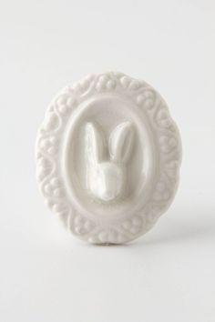 Rabbit Portrait Knob - Anthropologie.com
