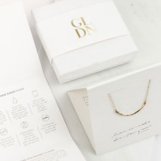 Jewelry OFF! Outline Bar Necklace Gold Fill Sterling Silver or Necklace Packaging, Jewelry Packaging, Brand Packaging, Box Packaging, Jewelry Branding, Packaging Inspiration, Packing Jewelry, Bar Necklace, Dainty Necklace