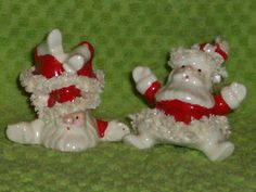Cute Pair of Goofy Santa's with Spaghetti Trim by thetrendykitchen, $10.00