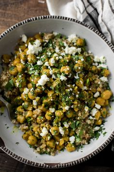 Easy, 20-minute chickpea bowls that use your favorite curry spice blend and a splash of cream or coconut milk. Serve on quinoa for a well-rounded meal.