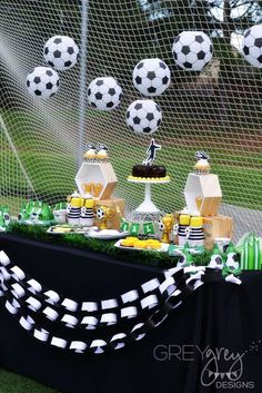 Soccer birthday party ideas in 2019 Soccer Birthday Parties, Football Birthday, Sports Birthday, Soccer Party, Sports Party, Birthday Party Themes, Soccer Baby Showers, Soccer Banquet, Party Mottos