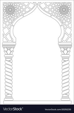 Architectural arch in Arabic or other Eastern style . Architectural arch in Arabic or other Eastern style … # arabic - Colour Architecture, Islamic Architecture, Timeline Architecture, Islamic Art Pattern, Pattern Art, Photos Islamiques, Adobe Illustrator, Motifs Islamiques, Tanjore Painting
