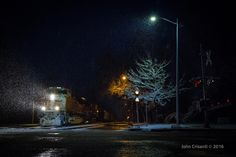 https://flic.kr/p/FVPTkm   Twilight Along Atwood St   A cold and snowy early Sunday morning brings peace and silence in the old neighborhood along Atwood Street in Longmont, Colorado. However, that is interrupted by an empty coal train led by BNSF SD70ACe No. 8444 as they make their way through the numerous crossings along Atwood Street on April 17, 2016.