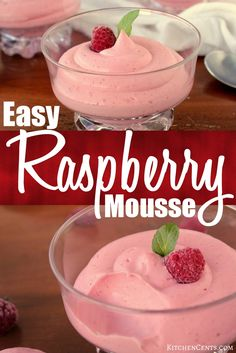 EASY RASPBERRY MOUSSE Are you looking for the perfect Valentine's treat? smooth, creamy, and so pretty with its beautiful pink color. A simple eggless mousse using gelatin to make it stable. Only requires 4 ingredients (not inc Mousse Dessert, Tiramisu Dessert, Mousse Cake, Eggless Desserts, Köstliche Desserts, Delicious Desserts, Dessert Recipes, Easter Recipes, Easy Raspberry Desserts