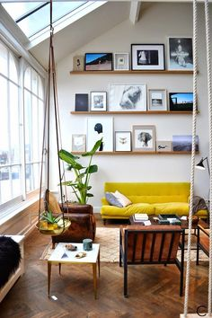 Yes! Floating shelves for the stairwell gallery wall. Perfect.