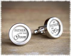 Father of the Bride Cufflinks I Loved Her First by SuedeSentiment
