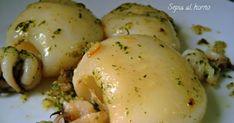 La sepia al horno con un majado de ajo, aceite y perejil es un bocado exquisito. Tierna, jugosa y con un sabor increíble