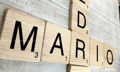 Letras scrabble en madera maciza. Visite nuestra tienda online.