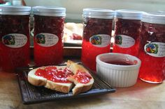 Strawberry Rhubarb Jam - love the back story