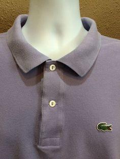 a2eff9e792f4d1 Lacoste Mens Lavender Purple Polo Short Sleeve Shirt Size 9 3XL