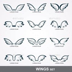 Wings Collection — JPG Image #coat #heraldic • Available here → https://graphicriver.net/item/wings-collection-/9434166?ref=pxcr