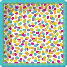 Jellybean Colorful Fun 10 inch Plates (the site also has small plates and napkins) #jellybean #party