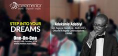 Adekunle Adebiyi to provide mentoring at #Mara1on1, Abuja for aspiring entrepreneurs to venture into telecom industry.