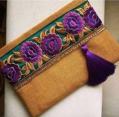 Floral Clutch Ethnic Clutch Bag Bohemian Clutch by BOHOCHICBYDAMLA