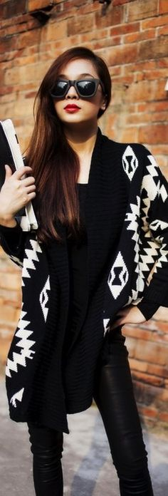 Geometric Knitted Cardigan