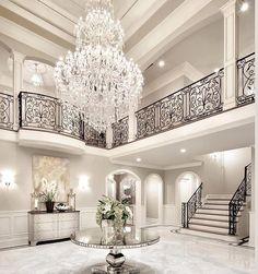Interior Design Near Me #InteriorYellowPaintColors Key: 4099823539 #InteriorLuxuryDesign Shabby Chic Interiors, Chandelier, Ceiling Lights, Wallpaper, Beautiful Homes, Interior Design, Lighting, House, Home Decor