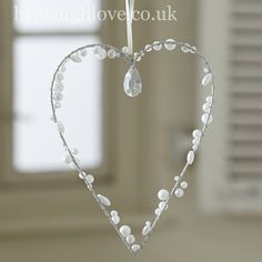 Large Heart with Pearl Beads