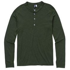 Men's OD Henley L/S | Ibex Outdoor Clothing Long Sleeve Wool Shirt