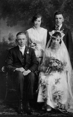 Great Aunt's wedding photo from 1919