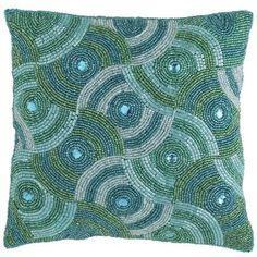 Jewel Beaded Swirl Pillow