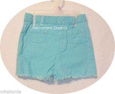 Infant Girls Blue Shorts 12M 24M 3T NEW Butterfly Lace Denim #WonderKids #Shorts #Everyday