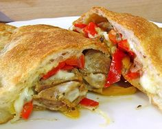 Sausage and Pepper Calzones recipe